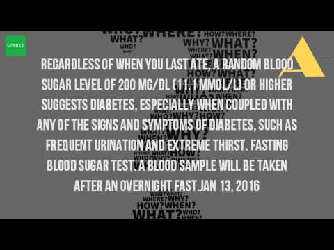 What Is The Random Blood Sugar Level?