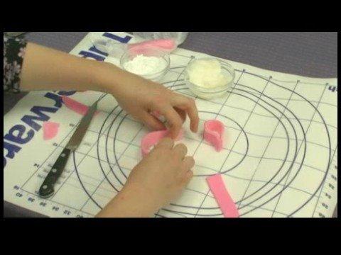 Making a Ballet Slippers Cake : Making Fondant Bows on Ballet Cakes
