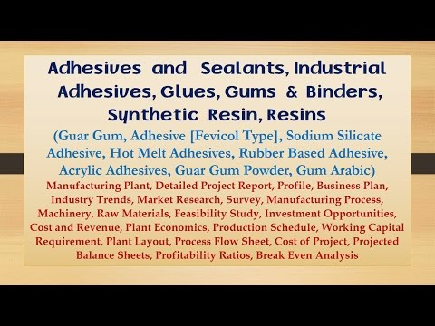 Adhesives and Sealants, Industrial Adhesives, Glues, Gums and Binders, Synthetic Resin, Resins