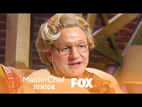 Gordon Ramsay Chit Chats With One Of The Grandmothers | Season 6 Ep. 13 | MASTERCHEF JUNIOR