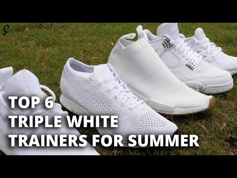 The Top 6 Triple White Trainers For Summer