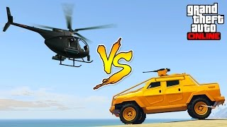 GTA 5 online- How to get the police heli and unarmed buzzard