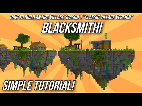 Minecraft Tutorial: How to build an NPC Village - Blacksmith!