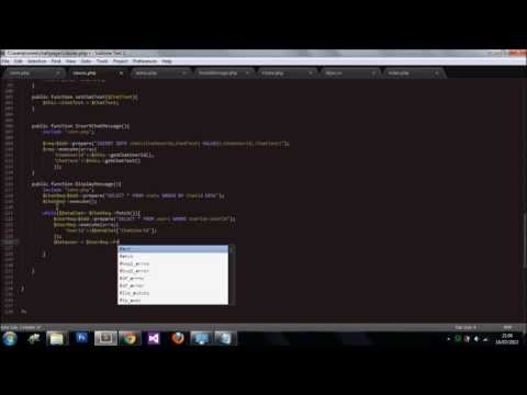 Chat Application (PHP/AJAX) part5 Displaying Messages