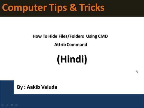 How To Hide Files or Folders  Using CMD | Attrib Command