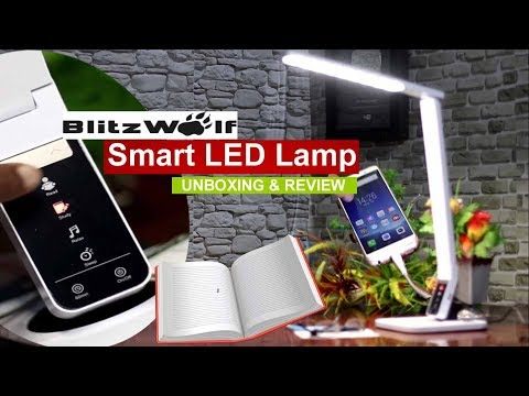 Blitz-Wolf Smart LED Lamp | Touch Control Panel | Eye Protection | No Shadow & USB Charging