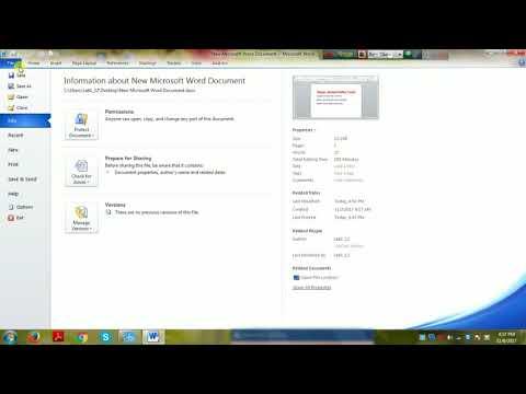 How to word file to PDF windows 7 Bangla tutorial.