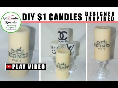 🕯️ DIY Designer Candles Inspired $1 Budget  Dollar Tree Romantic Scents