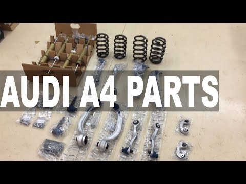 Audi A4 Spring, Shock and Control Arm Kit, ECS Tuning Unboxing
