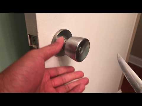 UNLOCK DOOR USING STEAK KNIFE - HOW TO