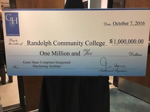 Gene Haas Foundation grant to RCC