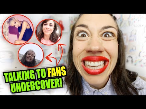 TALKING TO FANS UNDERCOVER!