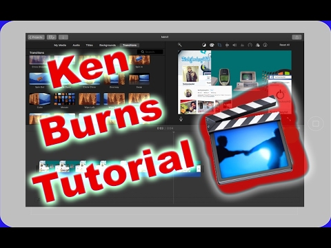 iMovie on Ipad- Ken Burns Effect- How to zoom in/out of a  clip
