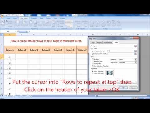 How to repeat Header rows of Your Table in Microsoft Excel