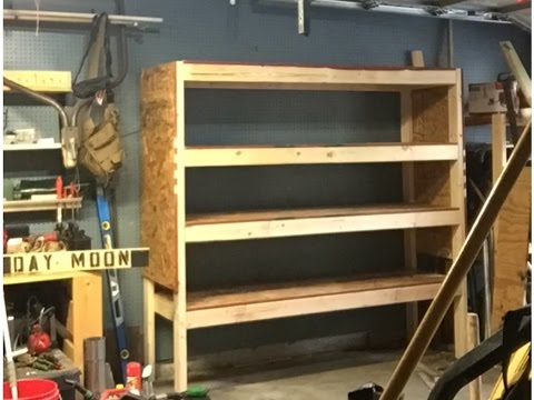 Building With the Little Dude: 2x4 Garage Shelves