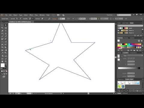 Drawing straight lines with the pen tool   Adobe Illustrator CC   lynda.com