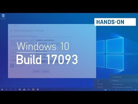 Windows 10 build 17093: Hands-on with multi GPU settings, Game Bar, Eye Control, Edge