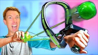 NERF SLIME Weapons vs Fruit Ninja Challenge