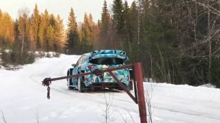 Sebastien Ogier test Ford Fiesta in Sweden