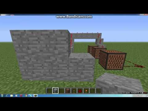 Minecraft how to make a fire alarm Simple!
