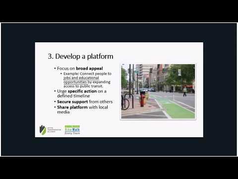 Election Advocacy Strategies – Bike Walk Every Town Webinar