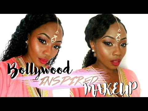 BOLLYWOOD BEYONCE INSPIRED MAKEUP  FOR DARK SKIN  |  LIZZIE LOVES