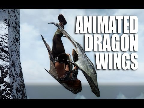 Skyrim Mods Watch: Animated Dragon Wings