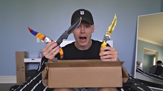 REAL LIFE CS:GO KNIFE UNBOXING + GIVEAWAY
