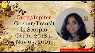 Jupiter Transits to Scorpio 2018 - Shruti Dwivedi predicts Moonsigns