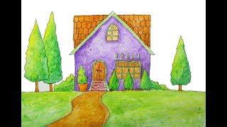 Cara Menggambar Rumah Bagus