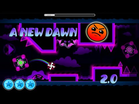 Geomtry Dash [2.0] | A New Dawn by Etzer ( 3 coins ) | Online Levels