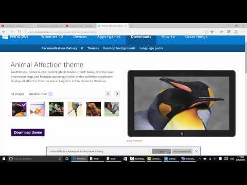 Windows 10: Apply a New Theme