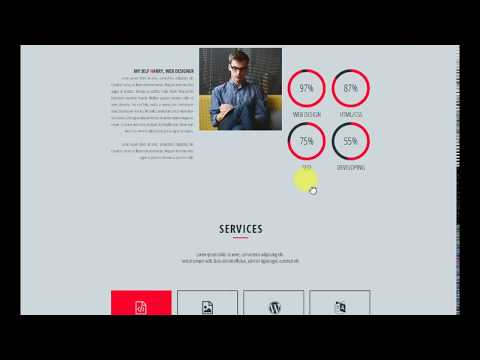 PSD Theme HARRY - CV/Resume Portfolio One Page PSD Template