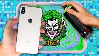HYDRO Dipping iPhone XS MAX !! (JOKER Custom) 🎨