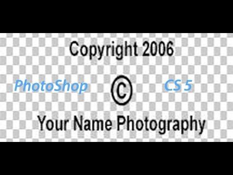 Create Copyright photos in Photoshop CS5