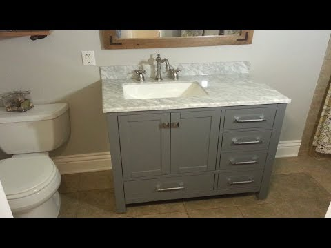 How To Replace A Bathroom Vanity | The Handyman |
