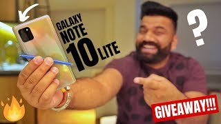 Galaxy Note 10 Lite Is Here - Heavy Features Lite Price - Giveaway🔥🔥🔥