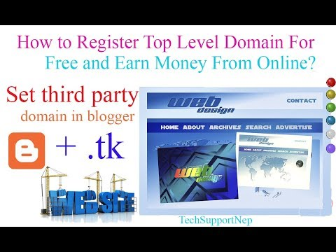 How to Register Top Level Domain For Free and Earn Money From that Website??