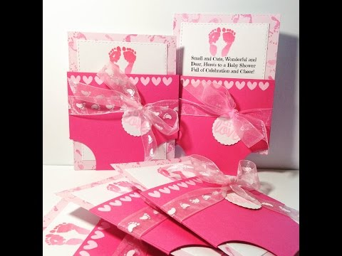 Baby Diaper Card from scratch. Boy or Girl