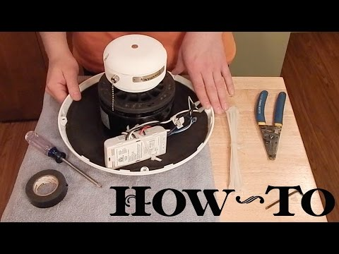 How To: Install Ceiling Fan Remote Receiver In Motor Housing