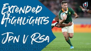 Extended Highlights Japan Vs South Africa Rugby World Cup 2019