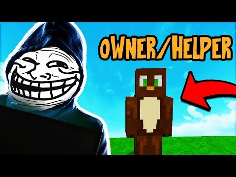 APPLYING FOR STAFF RANK ON MY OWN SERVER! (Minecraft Trolling)