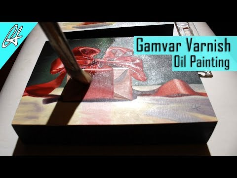 How to varnish an oil painting with Gamvar