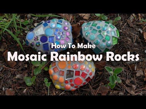 Mosaics 101: Mosaic Garden Rocks