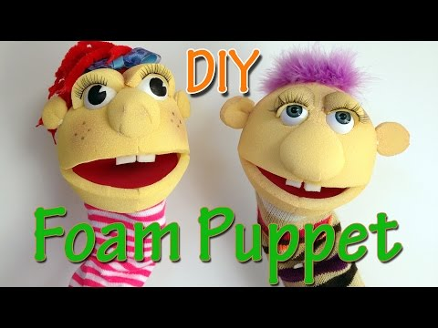 How to make a Foam Puppet - Ana | DIY Crafts.