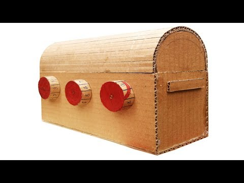 How to Make Treasure Chest with 3 Digit Strong Password - Cardboard DIY