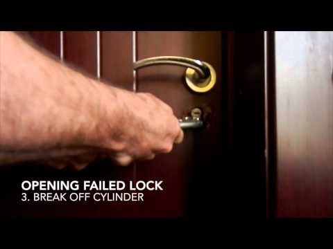 Open a door with a broken lock in under a minute
