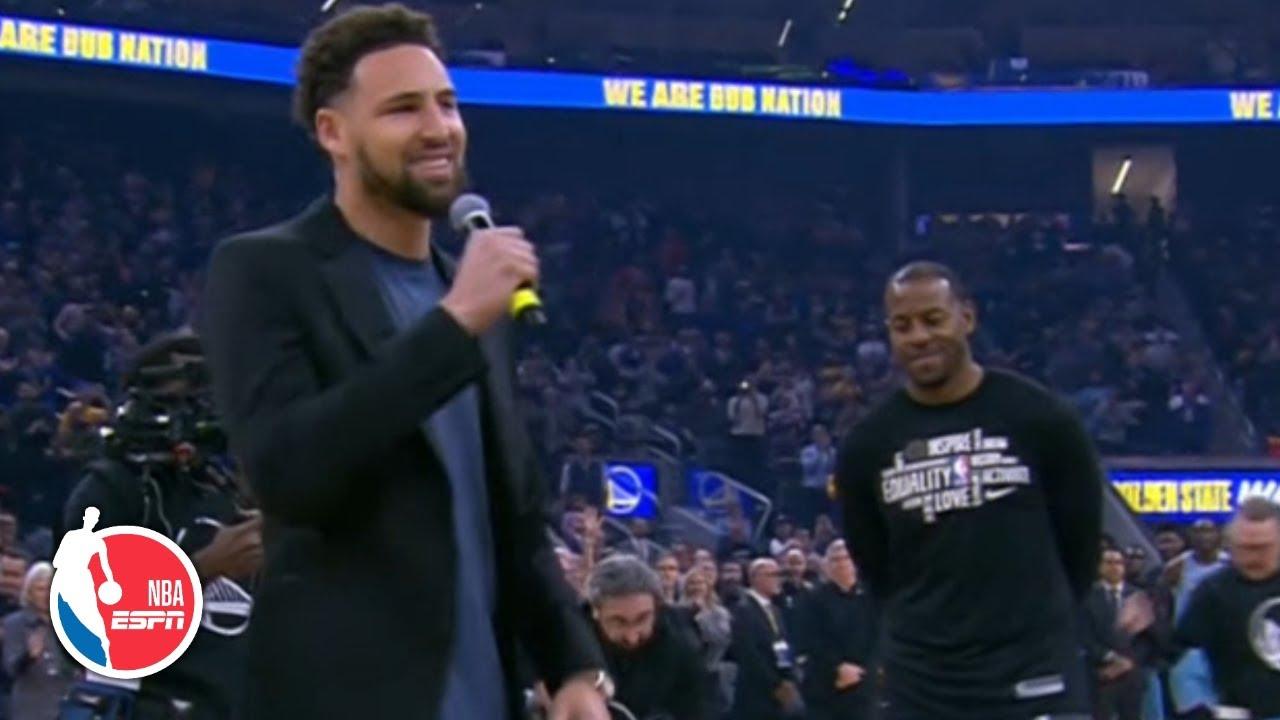The Golden State Warriors welcome back Andre Iguodala | NBA on ESPN
