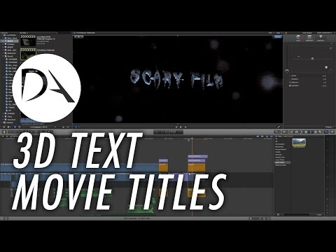 3D Text / 3D Film Title in #FCPX