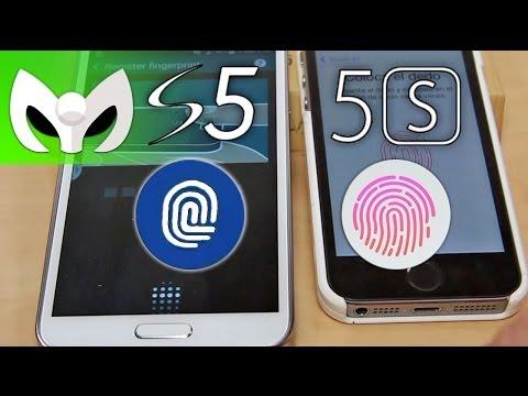 Galaxy S5 VS iPhone 5S HUELLAS DACTILARES (Análisis)